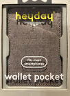 Heyday Cell Phone Wallet Pocket - Ballet Pink Fits Most Smartphones New