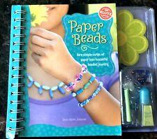 Child's Craft Book /Paper Beads Jewelry Making Book
