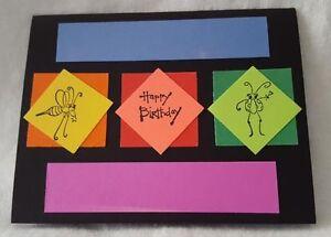 set of 5 Hand stamped Birthday/Anniversary/Wedding cards