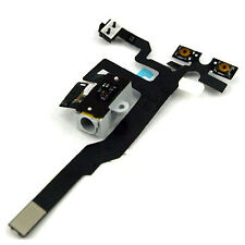 CONNETTORE AUDIO JACK TASTO VOLUME CABLE FLAT FLEX CUFFIE PER IPHONE 4S BIANCO