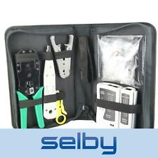 CAT6 CAT5 Network Cable Kit Tester Stripper Crimper Cutter 8P8C RJ45 Fittings