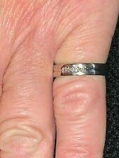 9ct White Gold 5 Diamond Eternity or Wedding Band Ring, L