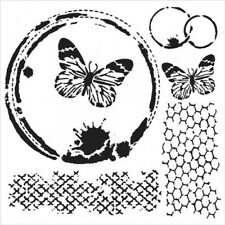 "The Crafter's Workshop 6""x 6"" stencil, Stencil Butterfly Collage Tcw554s"