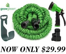 Durable Garden Hose 50 feet Pipe & Holder +Outdoor Storage Hanger and nozzle