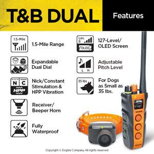 Dogtra T&B Dual Dog Training Waterproof Dog Collar Beeper Hunting- 127 levels