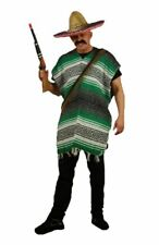 Adults Green & White Mexican Bandit 4 Pc Fancy Dress Wild West World Costume