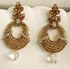 CZ Stone Bollywood Designer Royal Look Classy Fashion Wedding Bridal Earring00