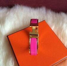 hot pink Popular Stylish Stainless Steel Anti-allergic H-shaped Buckle Bracelet