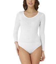 Maglie e camicie da donna bianchi elasticizzati misto cotone