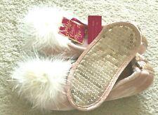 Candie's Jr. Women 2-pc Velvety Fur Pom Ballet Slippers & Sleep Mask Size S, $30