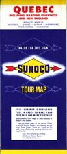 1959 Sunoco Road Map: Quebec NOS