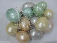 Easter Eggs Pastel Pearlized Bowl Basket Fillers Decorations Decor Set of 14