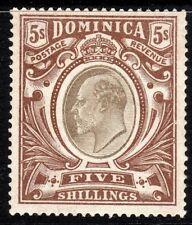 Dominica 1903 black/brown 5/- crown CC mint SG36