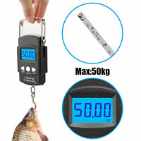 110lb/50kg Electronic Scale Digital Fishing Postal Hanging Hook Portable Scale