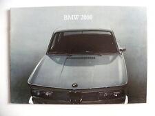 Brochure / catalogue BMW 2000 de 03 / 1966 en français