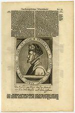 Antique Print-FADRIQUE ALVAREZ DE TOLEDO-DUKE OF ALBA-Van Meteren-1614
