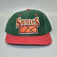 Seattle Sonics Supersonics NBA Logo 7 Vintage 90's KIDS Snapback Cap Hat