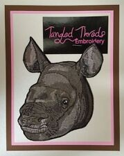 """Rhino Baby, Rhinoceros Embroidered Patch 4.7"""" x 5.6"""""""