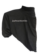 INDIAN BAGGY GYPSY HAREM PANTS YOGA MEN WOMEN BLACK COLORED COTTON DANCE TROUSER