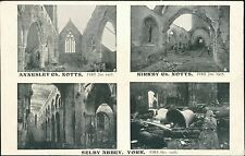 Annesley Church & Kirkby Notts Fire 1907. Selby Abbey, York fire 1906 DB.141