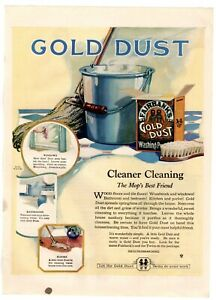1922 ORIGINAL VINTAGE FAIRBANK'S GOLD DUST WASHING POWDER SOAP MAGAZINE AD