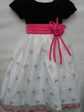 Summer Short Sleeve Velvet Dresses (2-16 Years) for Girls