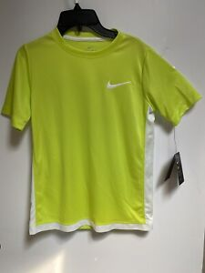 NEW NIKE Dri Fit Athletic Bright Yellow Neon Tee Shirt Boys Youth Size Medium