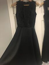 Worn Once Stunning Ted Baker Black Embroidered Midi Dress 0