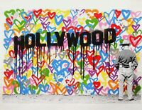 Mr. Brainwash Love on Hand Signed Limited Edition Screen Print Hollywood
