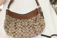 Coach Signature Bag Med Handbag/ Purse with Buckle strap Very Good Condition