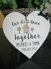 New Home Personalised Decorative Plaques & Signs
