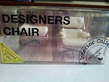 Miniatures Limited White Color Design Interior Collection Mini Chair Set D