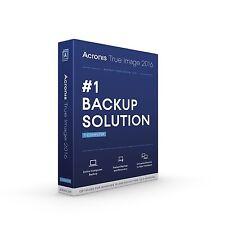 Acronis Véritable Image Maison 2016 Système Support Recovery Logiciel (PC & Mac)