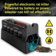 Rat Trap High Voltage Mouse Killer Electronic Shock Rodent Zapper Pest Control
