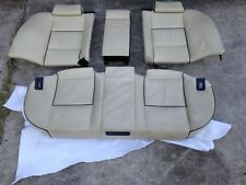 BMW E38 740i 750iL Rear Seat Bench Oyster Pearl Beige Nappa Blue Pipping Leather