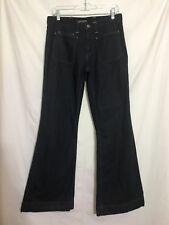 "Lacoste Jeans Sz 42 (US 12) x 32"" High Waist Flare Leg Dark Wash #PB3"