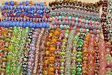 Big lot 40 sets of Fine, Murano Lampwork glass Beads -Spring florals - A3405c