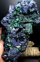1222g!!! Raw Natural Blue Azurite Crystal &Green Malachite Mineral Specimen Z930