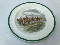 """Vintage Spode J.F. Herring The Hunt """"The Meet"""" Dinner Plate, 10 3/8"""" D"""