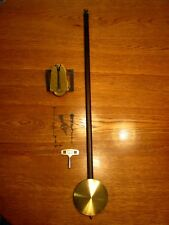 NOS Jauch Time Only 8-Day Clock Movement, P.L. 78cm, Hands, Key, Pendulum (143C)