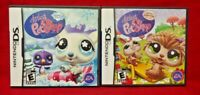 LPS Littlest Pet Shop Spring & Winter Nintendo DS Lite 3DS 2DS 2 Game Lot Tested