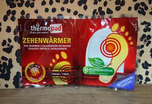 Thermopad Zehenwärmer bis zu 8h natürliche Wärme, Nie mehr kalte Füße