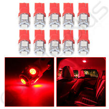 10x Red T10 5050 5 SMD W5W 194 168 LED 12V Car Side Wedge Tail Light Lamp Bulb