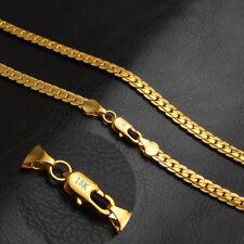 18k 750 Goldkette Massiv Panzerkette vergoldet Damen Herren Halskette 50cm 32€
