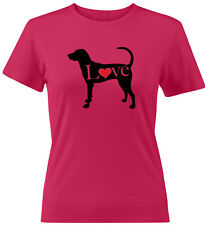 Love American Foxhound English Hound Juniors Women Tee T-Shirt Dog Lover Gift