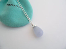 NEW Tiffany & Co Picasso 20 Carat Blue Chalcedony Necklace, Pouch
