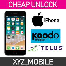 Unlock TELUS Koodo Apple iPhone 7, 7+, 6s, 6s+, 6, 6+, SE, 5S, 5, 4S, 4, 3Gs