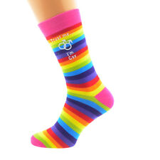 Trust me I'm Gay Male Sign Rainbow SOCKS Christmas MAN Birthday Present GIFT