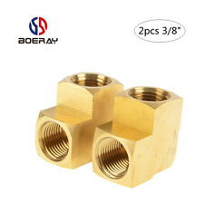 "2pcs 3/8"" Pipe Fitting 90 Degree Brass Street Elbow with NPT Female pipe"