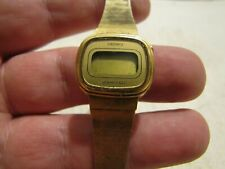 VTG WOMEN'S SEIKO QUARTZ LC WATCH NEW BATTERY L012-5059 PARTS OR REPAIR